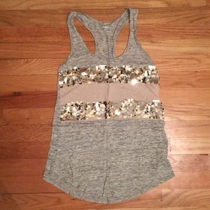 Expres sequined tank top